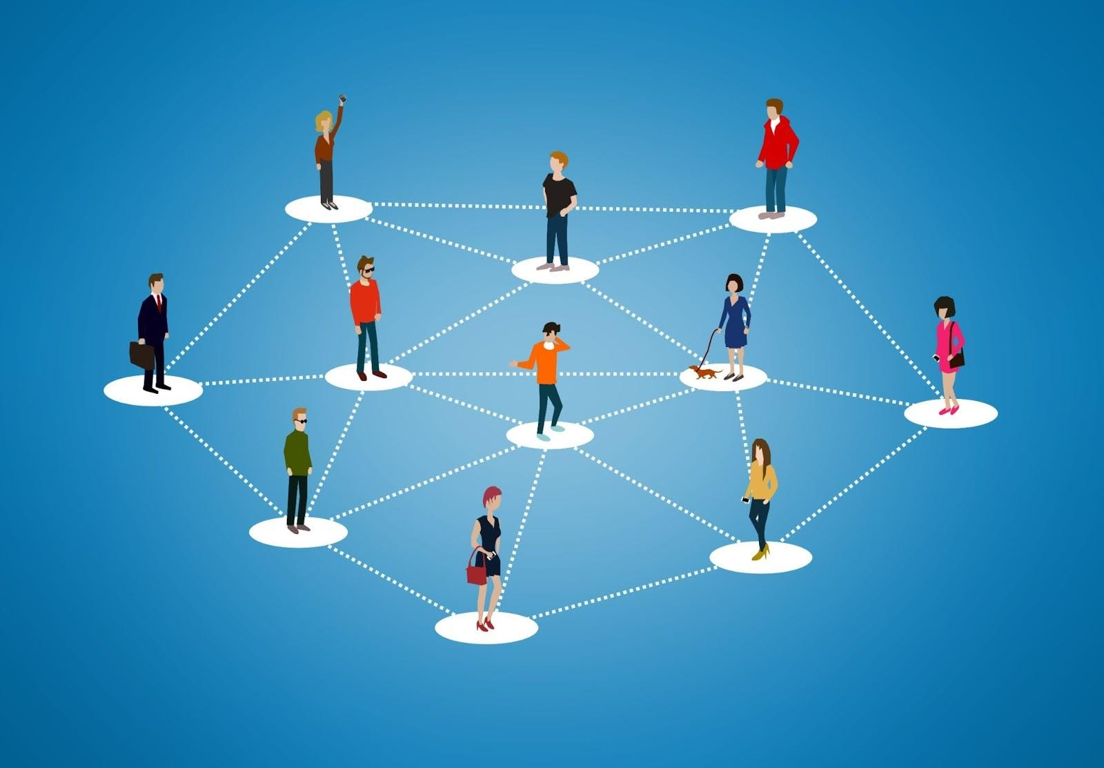 Person linking graph